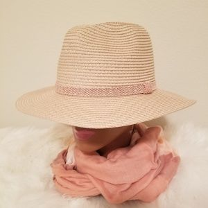 Blush Straw Fedora